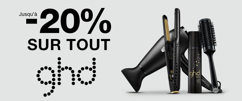 Bloc HP promo 2/3 -  -25% GHD - Toutes