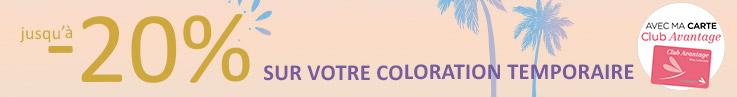 Catégorie barre horizontale - OP coloration fugace