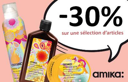 Bloc Promo page promo - Soldes - -30% Amika - Toutes