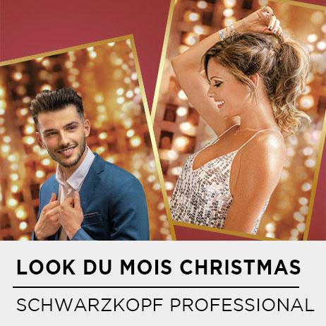 LOOK DU MOIS SCHWARZKOPF PROFESSIONAL : CHRISTMAS PARTY BY MANUE CUREAU & MARLON