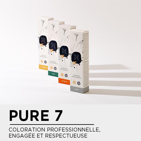 PURE7 - La nouvelle coloration professionnelle, engagée et respectueuse par 7eme Elément